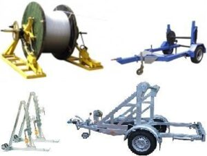Cable trailers and reel stands
