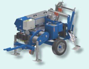 kabelziehwinde, wciągarka hydrauliczna, kabelziehwinde, hydraulic puller